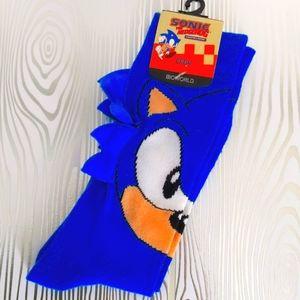 NWT Sonic The Hedgehog 3D Crew Socks Official Sega Men's Shoe Size 8-12